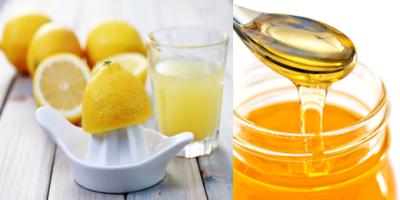 レモン果汁とハチミツ