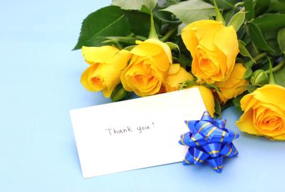 父の日黄色いバラ